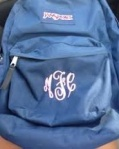 blue book bag