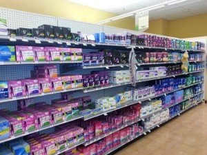feminie hygiene aisle