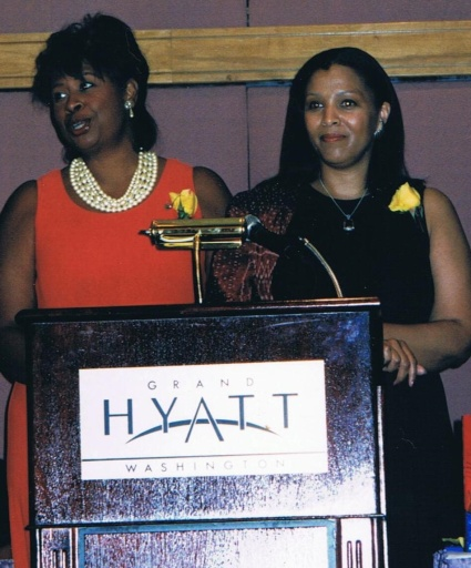 With my co-author receiving an award 1998