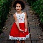 pretty red dress girl