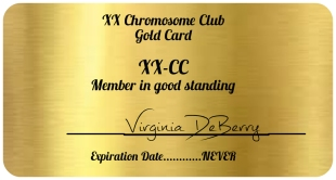 XX Chromosome gold card